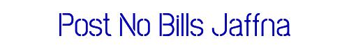 Post No Bills Jaffna