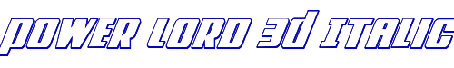 Power Lord 3D Italic