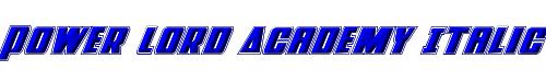 Power Lord Academy Italic