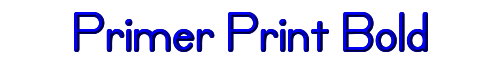Primer Print Bold