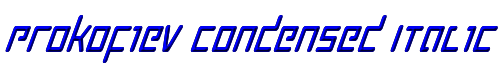 Prokofiev Condensed Italic