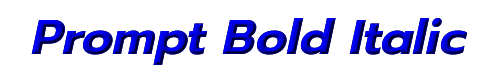 Prompt Bold Italic