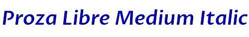 Proza Libre Medium Italic
