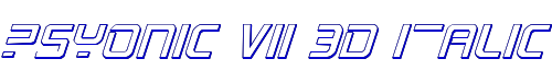 PsYonic VII 3D Italic