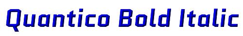 Quantico Bold Italic