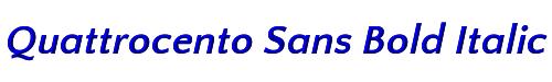 Quattrocento Sans Bold Italic