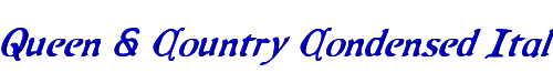 Queen & Country Condensed Italic