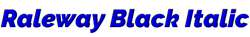 Raleway Black Italic