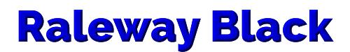 Raleway Black