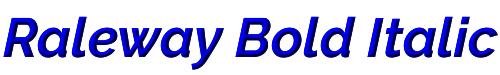 Raleway Bold Italic