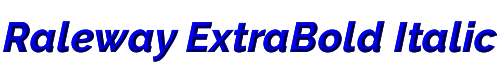 Raleway ExtraBold Italic