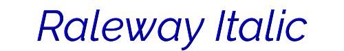 Raleway Italic