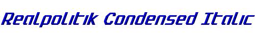 Realpolitik Condensed Italic