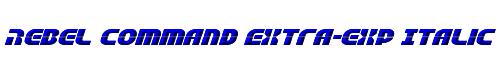 Rebel Command Extra-exp Italic Extra-expanded Italic