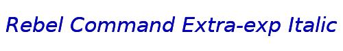 Rebel Command Extra-exp Italic ExtraExpanded Italic