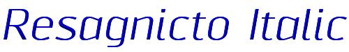 Resagnicto Italic
