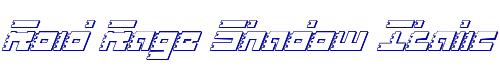 Roid Rage Shadow Italic