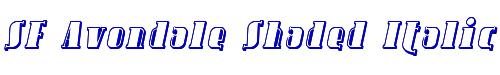 SF Avondale Shaded Italic