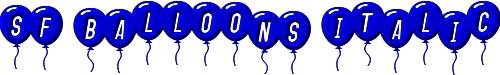 SF Balloons Italic