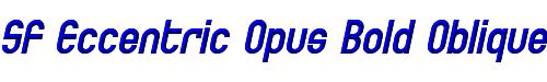 SF Eccentric Opus Bold Oblique