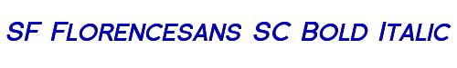 SF Florencesans SC Bold Italic
