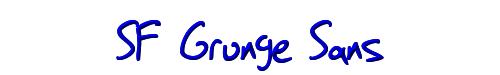 SF Grunge Sans