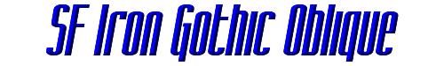 SF Iron Gothic Oblique