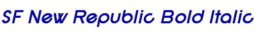 SF New Republic Bold Italic
