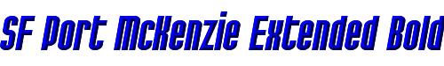 SF Port McKenzie Extended Bold Italic