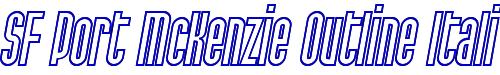 SF Port McKenzie Outline Italic