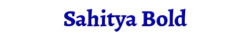 Sahitya Bold