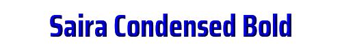Saira Condensed Bold