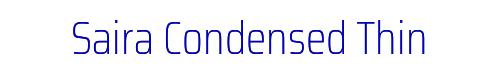 Saira Condensed Thin