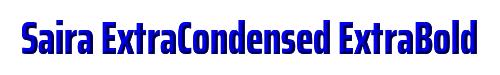 Saira ExtraCondensed ExtraBold