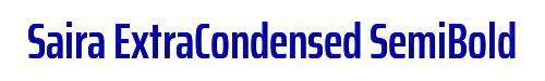 Saira ExtraCondensed SemiBold