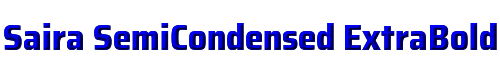 Saira SemiCondensed ExtraBold
