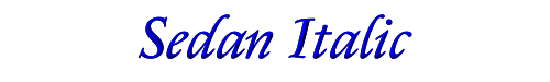 Sedan Italic