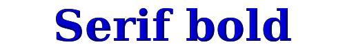Serif bold