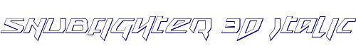 Snubfighter 3D Italic