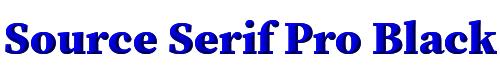Source Serif Pro Black