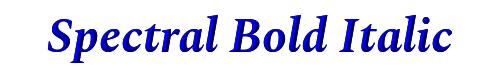 Spectral Bold Italic