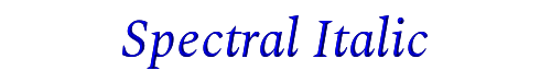 Spectral Italic