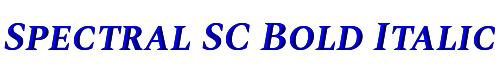 Spectral SC Bold Italic