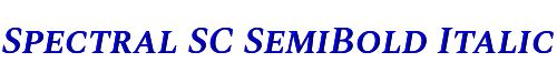Spectral SC SemiBold Italic