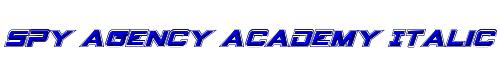 Spy Agency Academy Italic