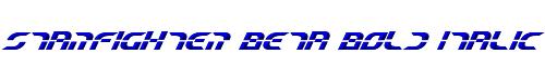 Starfighter Beta Bold Italic