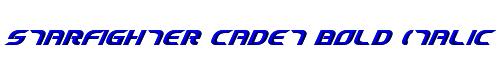 Starfighter Cadet Bold Italic