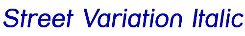 Street Variation Italic