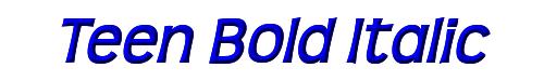 Teen Bold Italic