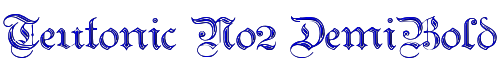 Teutonic No2 DemiBold